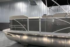 Carbon Exterior of a 2020 Sylvan Mirage 8520 Cruise Tritoon 3