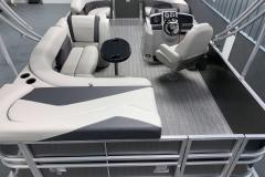 Interior Layout of a 2020 Sylvan Mirage 8520 Cruise Tritoon 2