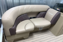 Brown Furniture Accent Color of a 2021 Sylvan Mirage 8520 LZ Tritoon Boat