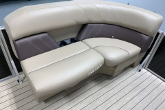 Built-In Cupholders of a 2021 Sylvan Mirage 8520 LZ Tritoon Boat