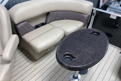Removable Snack Table of a 2021 Sylvan Mirage 8520 LZ Tritoon Boat