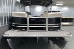 Bow Swim Deck of a 2020 Sylvan Mirage 8520 LZ Tritoon Boat