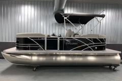 Black Panel Color of a 2020 Sylvan Mirage 8520 LZ Tritoon Boat
