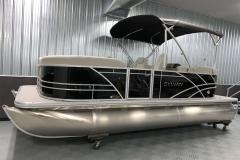 Easy Fold Bimini Top of a 2020 Sylvan Mirage 8520 LZ Tritoon Boat