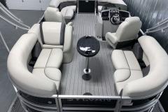 Interior Layout of a 2020 Sylvan Mirage 8520 LZ Tritoon Boat