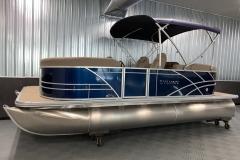 "Easy Fold 10"" Bimini Top of a 2020 Sylvan Mirage 8520 LZ Tritoon Boat"