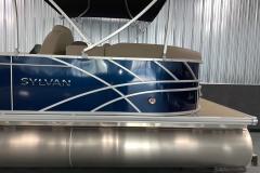 Chrome Sylvan Emblem of a 2020 Sylvan Mirage 8520 LZ Tritoon Boat