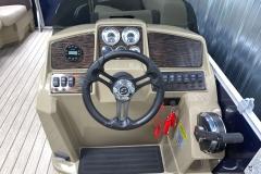 Bluetooth Jensen Stereo of a 2020 Sylvan Mirage 8520 LZ Tritoon Boat