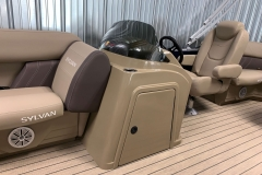 Redesigned Helm of a 2021 Sylvan Mirage 8520 LZ Tritoon Boat