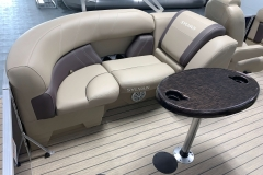 Port Side Rear Lounge Seating of a 2021 Sylvan Mirage 8520 LZ Tritoon Boat