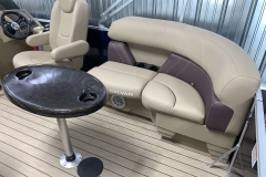 Removable Snack Table of a 2020 Sylvan Mirage 8520 LZ Tritoon Boat
