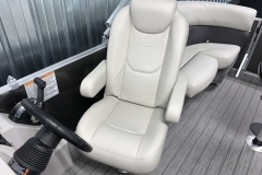 High Back Captain's Chair of a 2021 Sylvan Mirage 8520 LZ Tritoon Boat