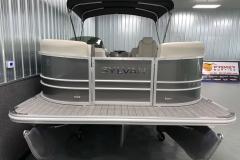 Bow Swim Deck of a 2021 Sylvan Mirage 8520 LZ Tritoon Boat
