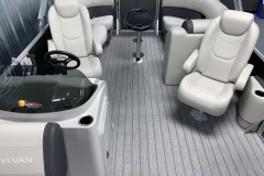 High Back Co-Captain's Chair of a 2021 Sylvan Mirage 8520 LZ Tritoon Boat