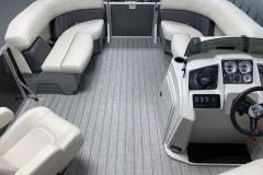 Interior Bow Layout of a 2021 Sylvan Mirage 8520 LZ Tritoon Boat 2