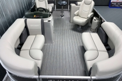 Interior Layout of a 2021 Sylvan Mirage 8520 LZ Tritoon Boat