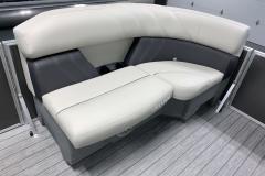 Interior Bow Seating of a 2021 Sylvan Mirage 8520 LZ Tritoon Boat