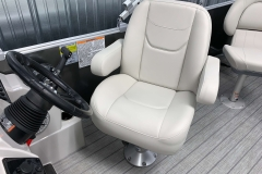 Captain's Chair of a 2021 Sylvan Mirage 8520 Party Fish Pontoon Boat