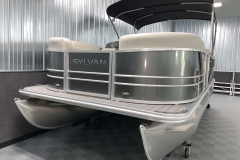 Bow Swim Deck of a 2021 Sylvan Mirage 8520 Party Fish Pontoon Boat
