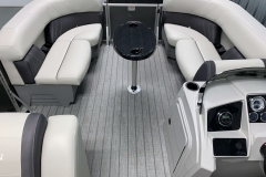 Interior Bow Layout of a 2021 Sylvan Mirage 8520 Party Fish Pontoon Boat