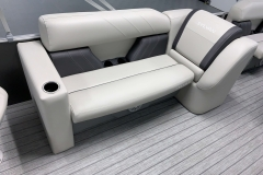 Interior Seating of a 2021 Sylvan Mirage 8520 Party Fish Pontoon Boat