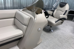 Helm of the 2021 Berkshire 22CL LE Pontoon Boat