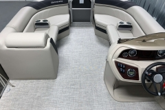 Interior Bow Layout of the 2021 Berkshire 22CL LE Pontoon Boat