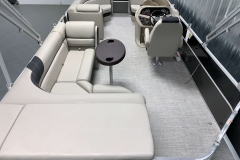 Rear Sun Pad of the 2021 Berkshire 22CL LE Pontoon Boat
