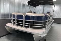 Bow Swim Deck of the 2021 Berkshire 24RFX LE Pontoon Boat