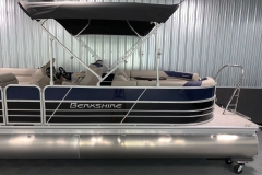 Two-Tone Exterior Design of the 2021 Berkshire 24RFX LE Pontoon Boat