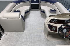 Interior Bow Layout of the 2021 Berkshire 24RFX LE Pontoon Boat