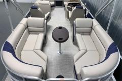 Quad Lounge Layout of the 2021 Berkshire 24RFX LE Pontoon Boat