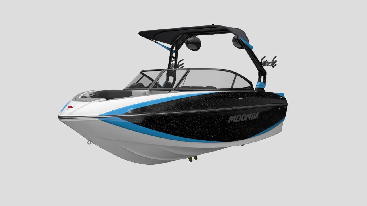 Premium A3 Bimini Top on the 2021 Moomba Craz Wake Boat