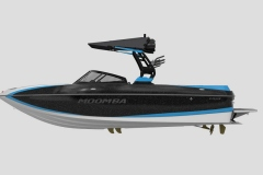 Eclipse Black Metal Flake on the 2021 Moomba Craz Wake Boat