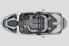 Interior Layout of the 2021 Moomba Craz Wake Boat