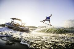 Wake Surfing Behind the 2021 Moomba Craz Wake Boat