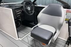 Adjustable Helm Chair of the 2021 Moomba Craz Wake Boat