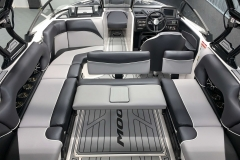 Convertible Rear Facing Bench Seat on the 2021 Moomba Craz Wake Boat