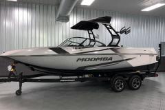 Silver Metal Flake on the 2021 Moomba Craz Wake Boat