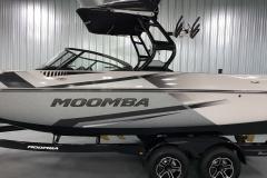 A3 Premium Bimini Top on the 2021 Moomba Craz Wake Boat