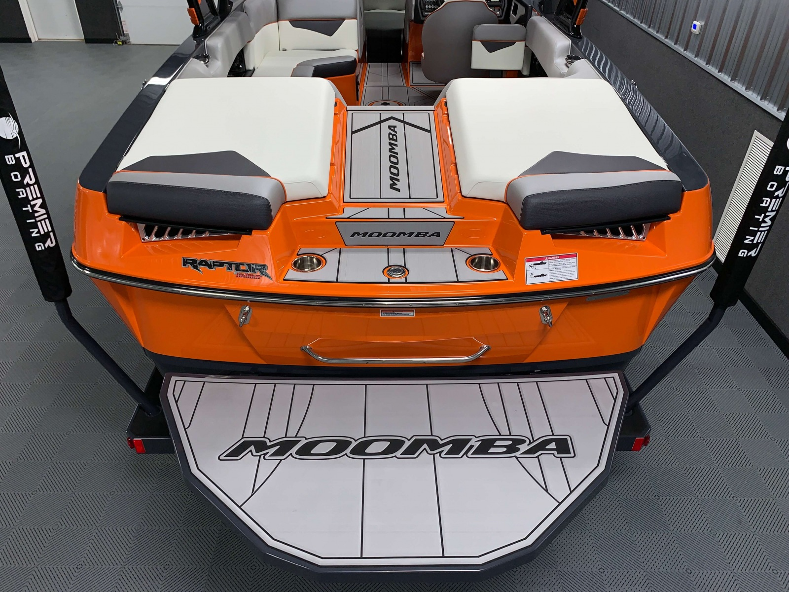 Transom of the 2021 Moomba Kaiyen Wake Boat
