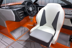 Captain's Helm Chair of the 2021 Moomba Kaiyen Wake Boat