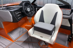 Helm Chair Bolster of the 2021 Moomba Kaiyen Wake Boat