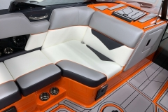 Recessed Glove Box of the 2021 Moomba Kaiyen Wake Boat