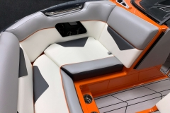 Interior Bow Seating of the 2021 Moomba Kaiyen Wake Boat