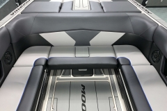 Interior Rear Layout of the 2021 Moomba Max Wake Boat