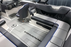 Starboard Side Interior Seating of the 2021 Moomba Max Wake Boat