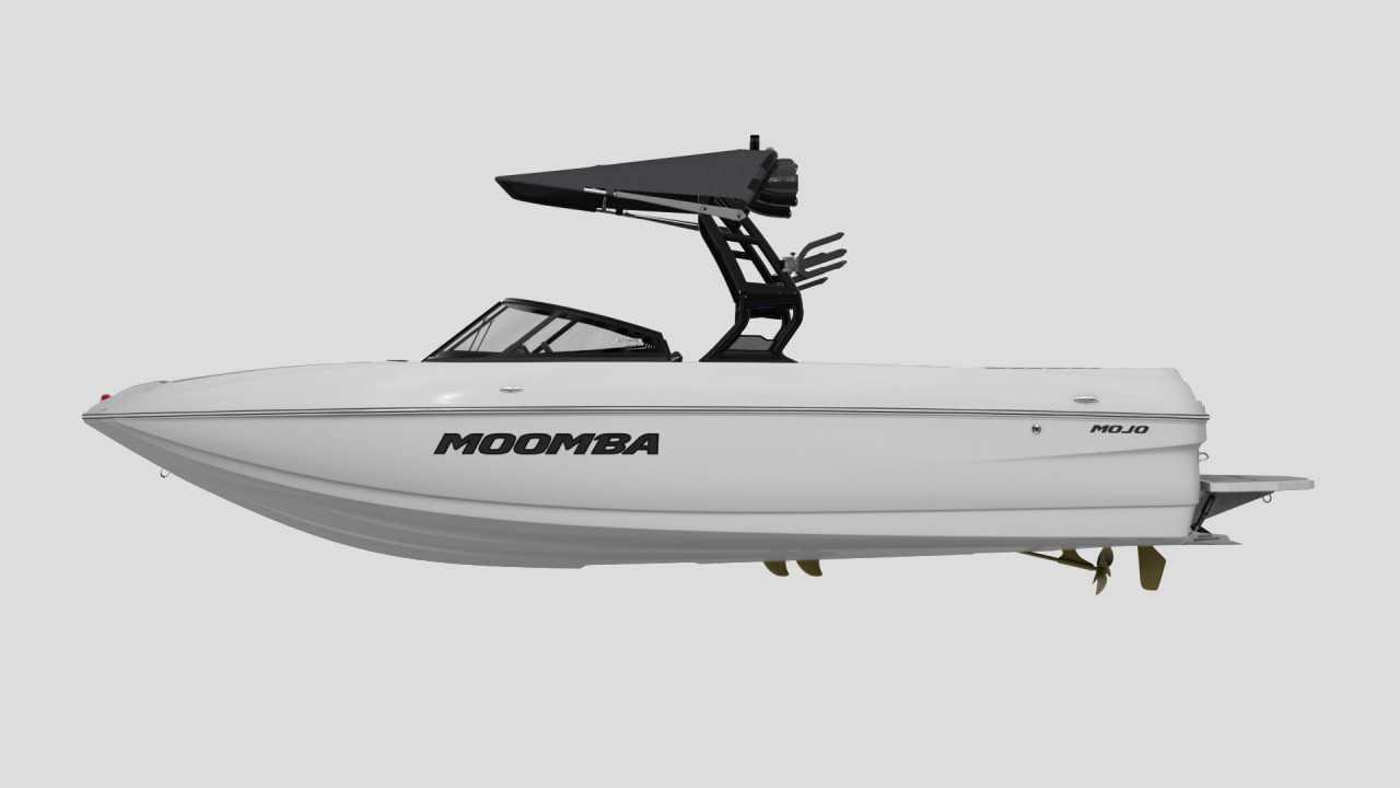 Exterior Gel Scheme of a 2021 Moomba Mojo Wake Boat