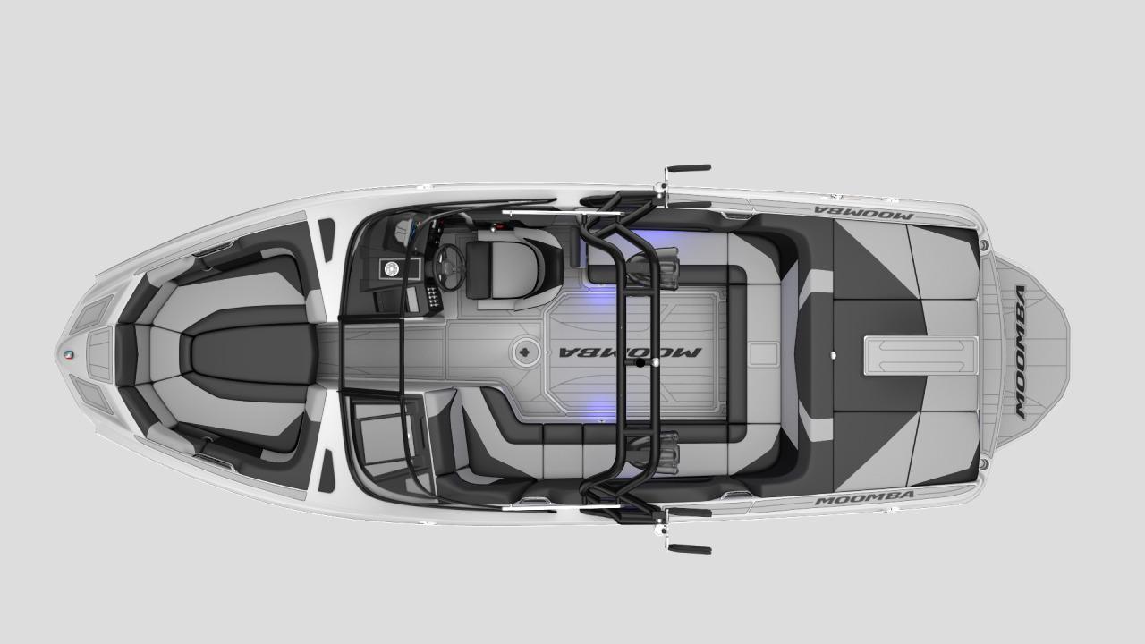 Interior Layout of a 2021 Moomba Mojo Wake Boat