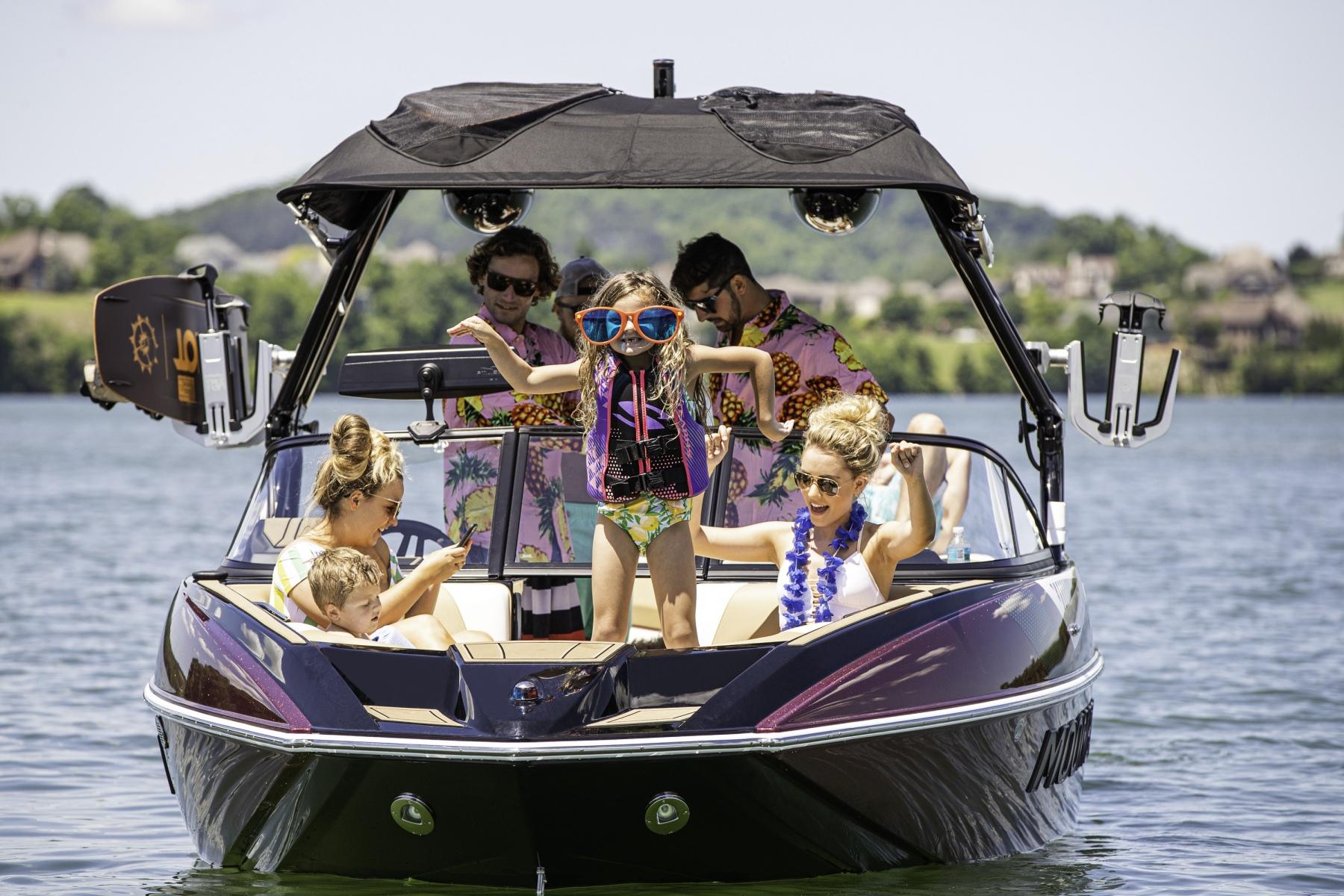 Bow Party on a Moomba Mojo Wake Boat
